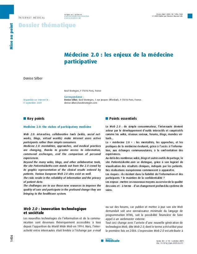 en ligne sur / on line on                                                              Presse Med. 2009; 38: 1456–1462    ...