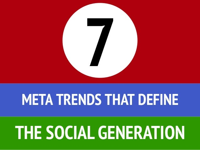 7 Meta Trends that define the Social Generation