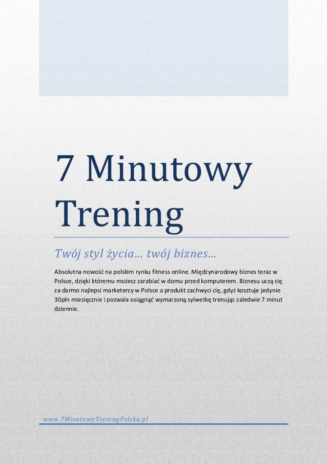 7 minutowy trening