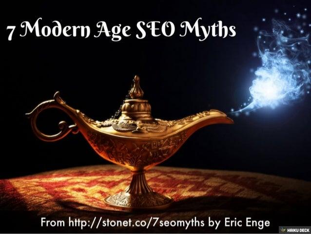 7 Modern SEO Myths
