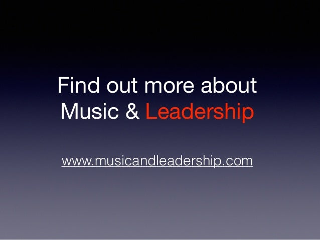 7 Music Amp Leadership Quotes To Inspire You