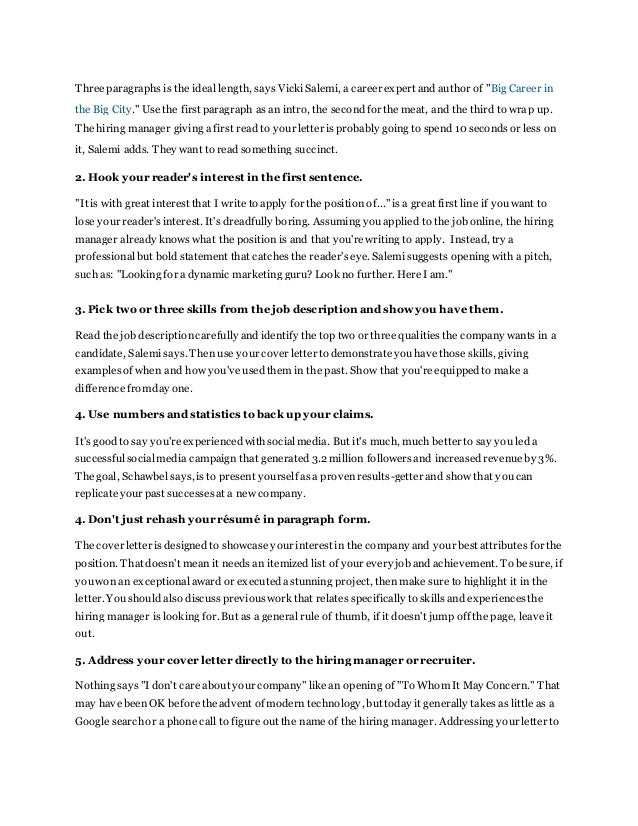 how to write the perfect cover letter step by step writing a perfect cover letter - Ideal Cover Letter