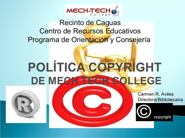 Derecho autor politica mtc 2014