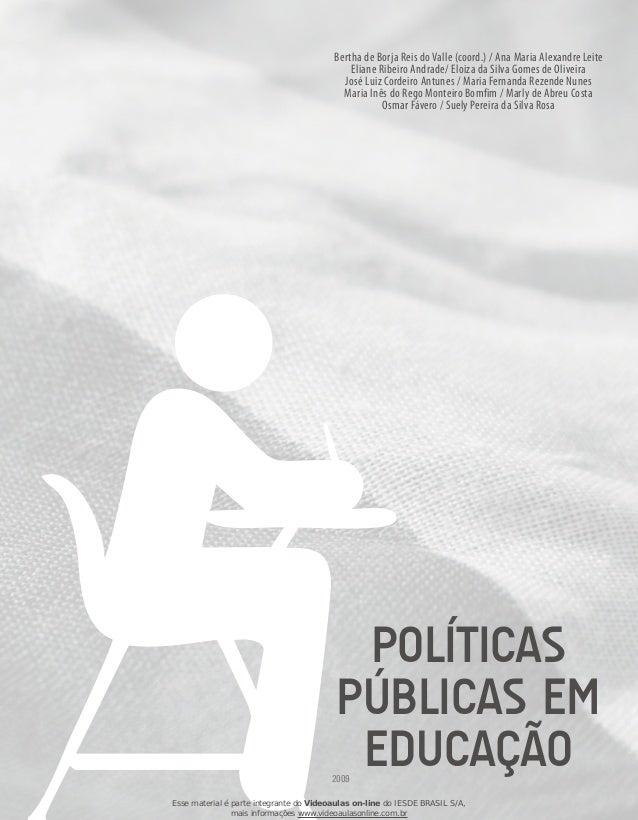 Bertha de Borja Reis do Valle (coord.) / Ana Maria Alexandre Leite Eliane Ribeiro Andrade/ Eloiza da Silva Gomes de Olivei...