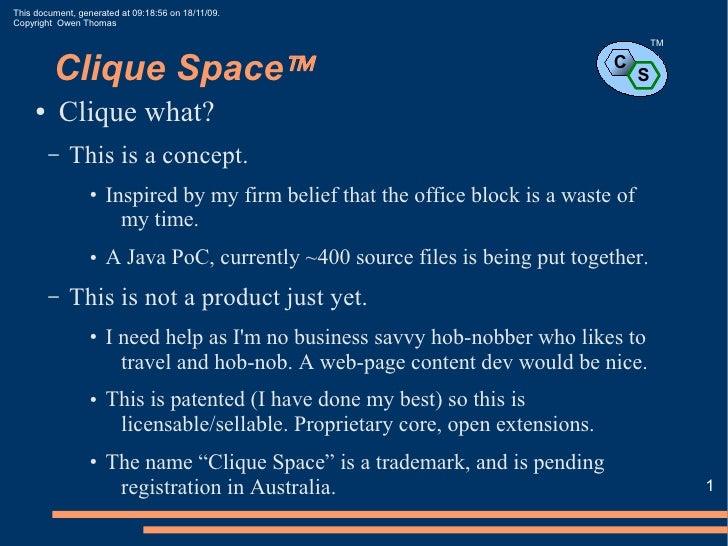 Owen Thomas - Introducing Clique Space