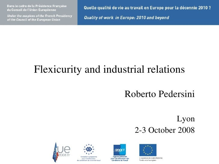 Flexicurity and industrial relations - Pedersini (Roberto)
