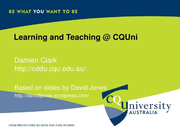 FoULT: Learning and Teaching @ CQUni - Feb 2010