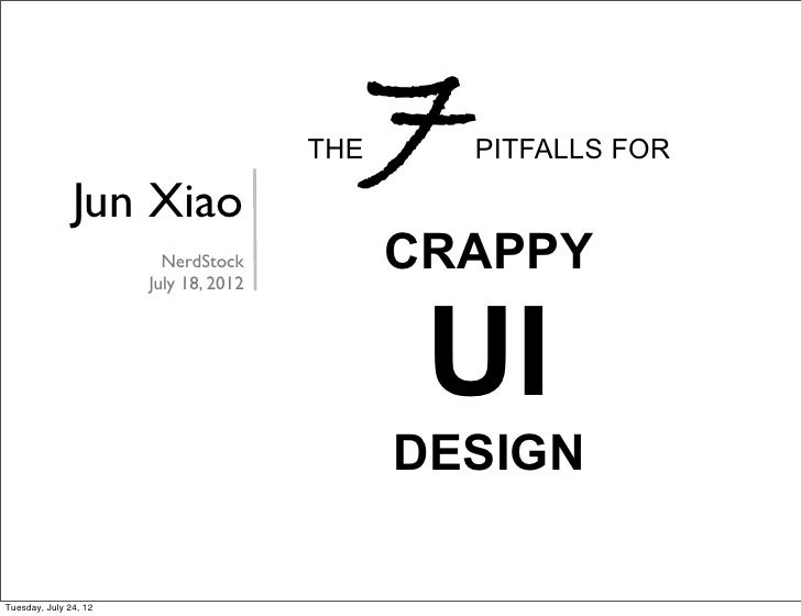 7pitfall for crappy UI design
