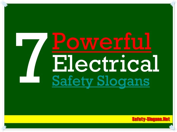 PowerfulElectricalSafety Slogans