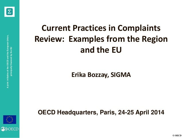 7 Current Practices in Complaints Review: Examples from the Region and the EU_English