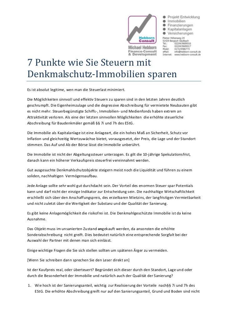 7PunktewieSieSteuernmitDenkmalschutz‐ImmobiliensparenEsistabsolutlegitime,wenmandieSteuerlastminimiert....
