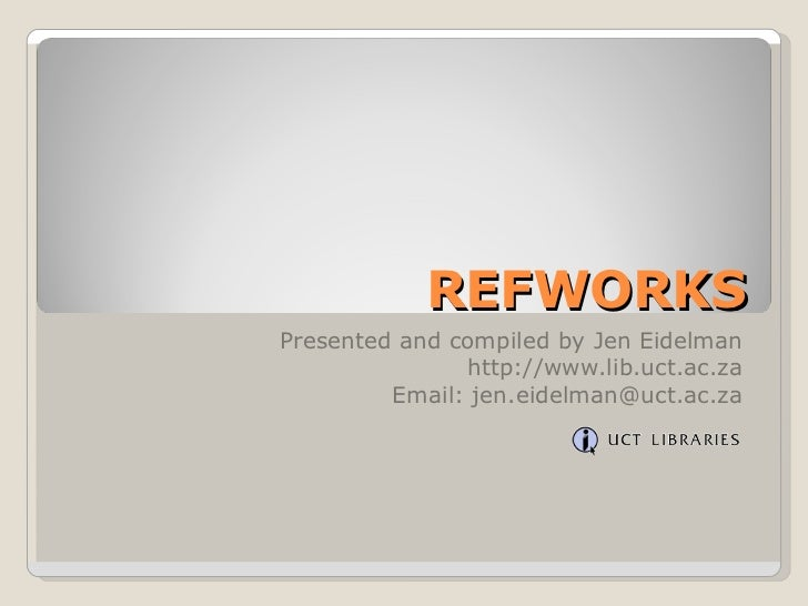 7 ref works search for ref in refworks