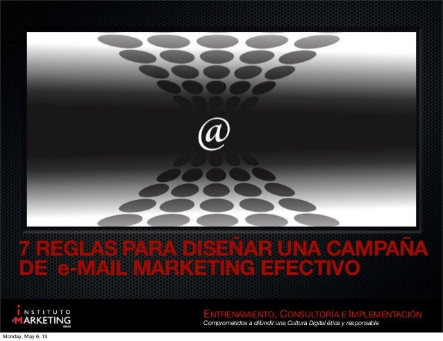 7 reglas para e mail marketing