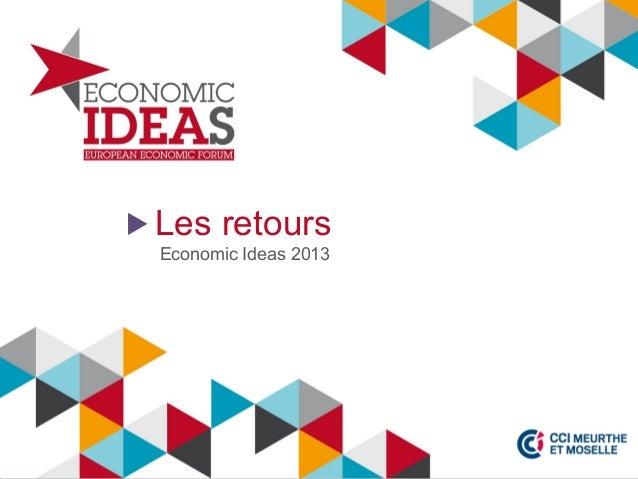 Les retours Economic Ideas 2013