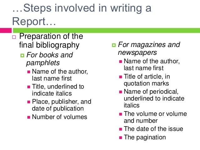 Steps in research writing