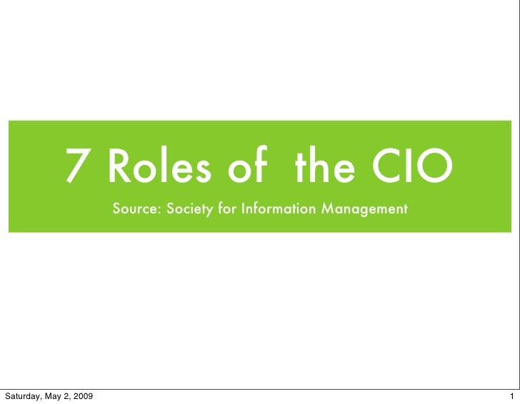 7 Roles of the Highly Effective CIO