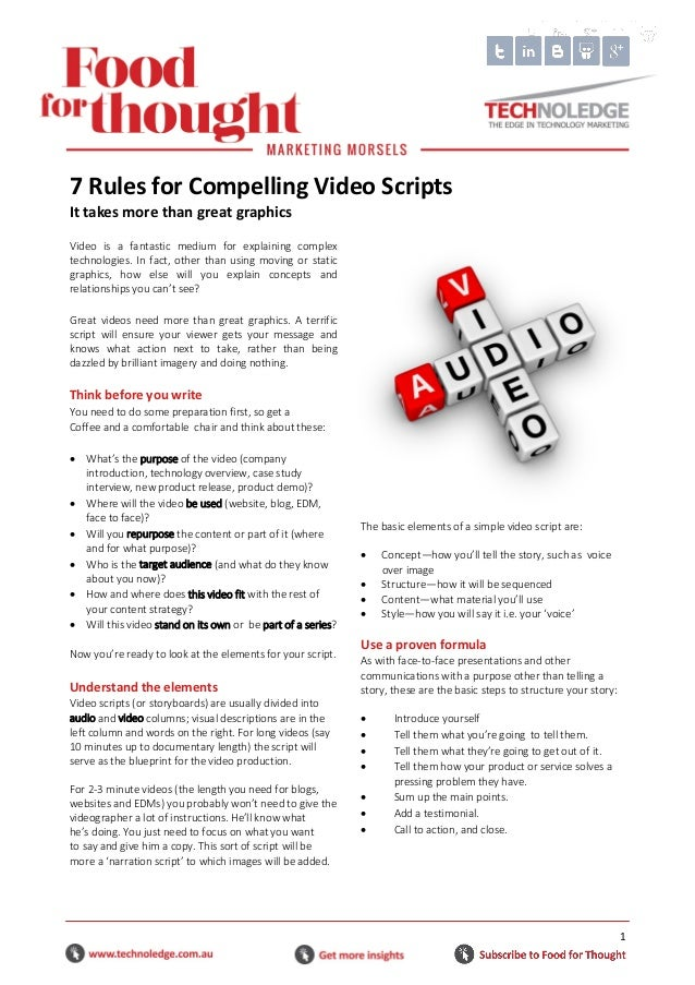 7 Rules for Compelling Video Scripts