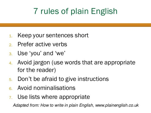 rules for essays