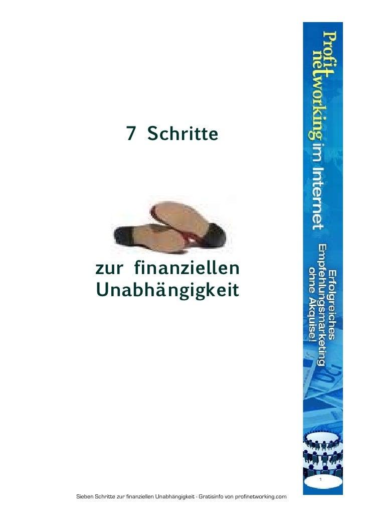 7 Schritte zur finanziellen Unabhängigkeit
