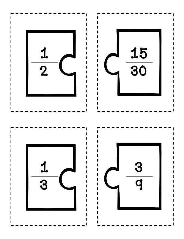math worksheet : equivalent fractions 2 : Fractions Puzzle Worksheet