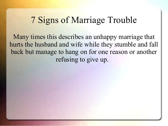 Signs husband unhappy marriage