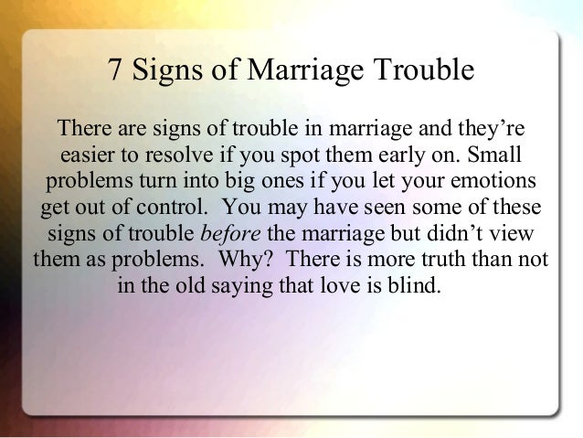 Signs Your Marriage Is In Trouble Quiz