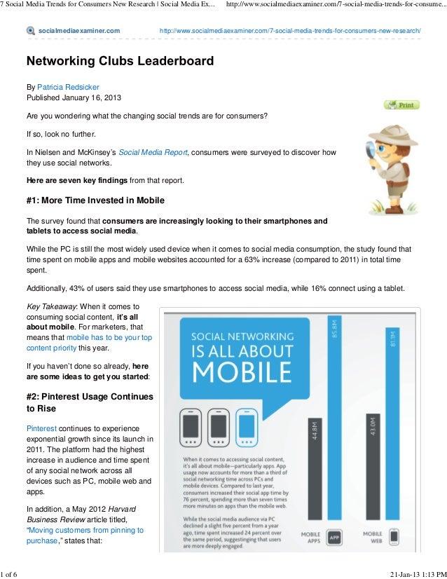 7 Social Media Trends for Consumers New Research | Social Media Ex...   http://www.socialmediaexaminer.com/7-social-media-...