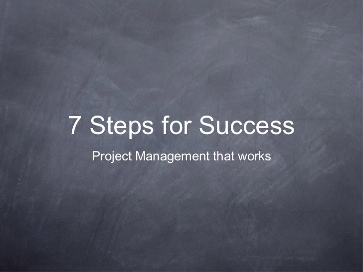 7 Steps for Successful Project Management