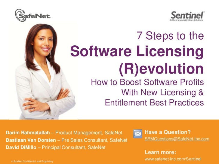 7 Steps to the Software Licensing (R)evolutionHow to Boost Software Profits With New Licensing & Entitlement Best Practice...