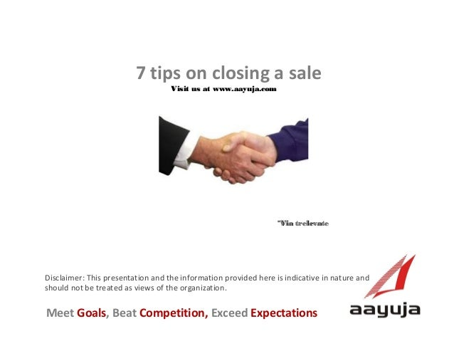 7 Tips on Closing a Sale