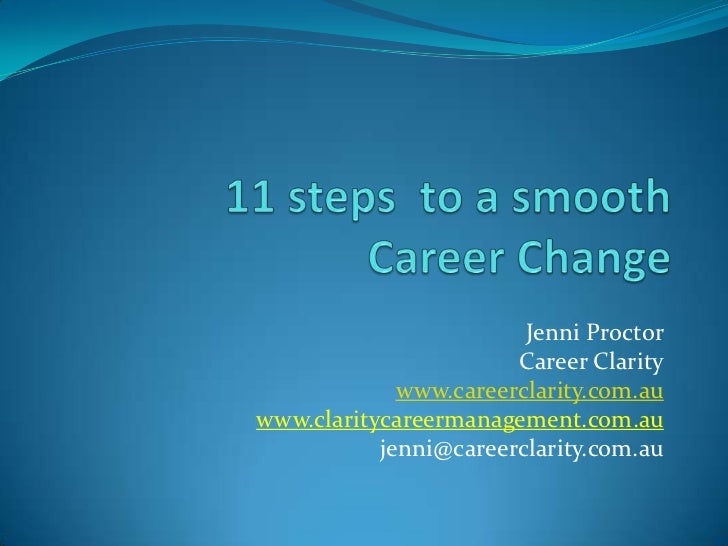 11 steps to a smooth career change