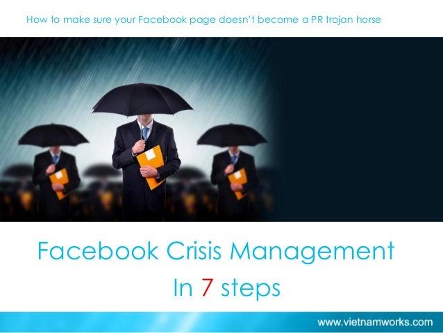 7 steps to control facebook crisis
