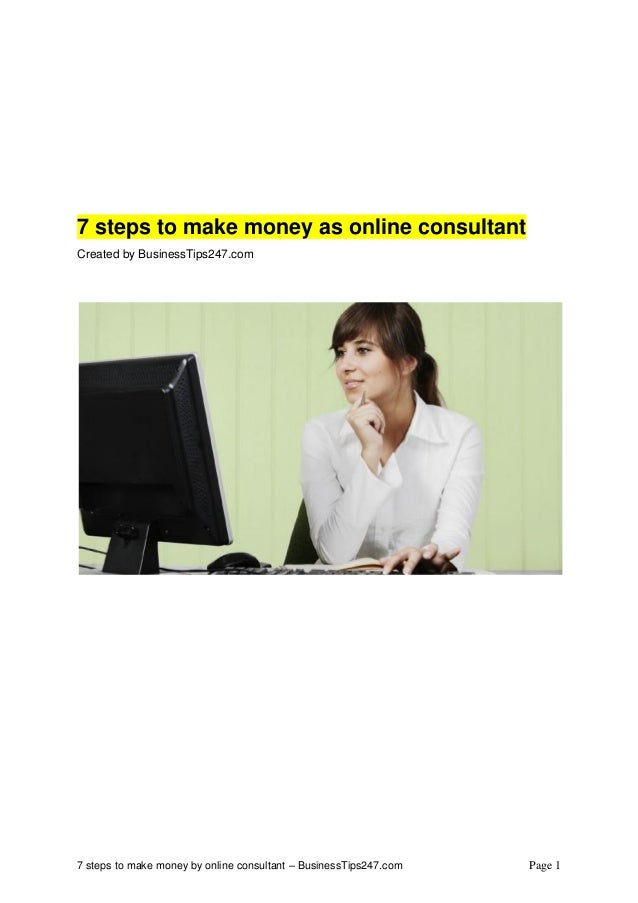 how to make money consulting online