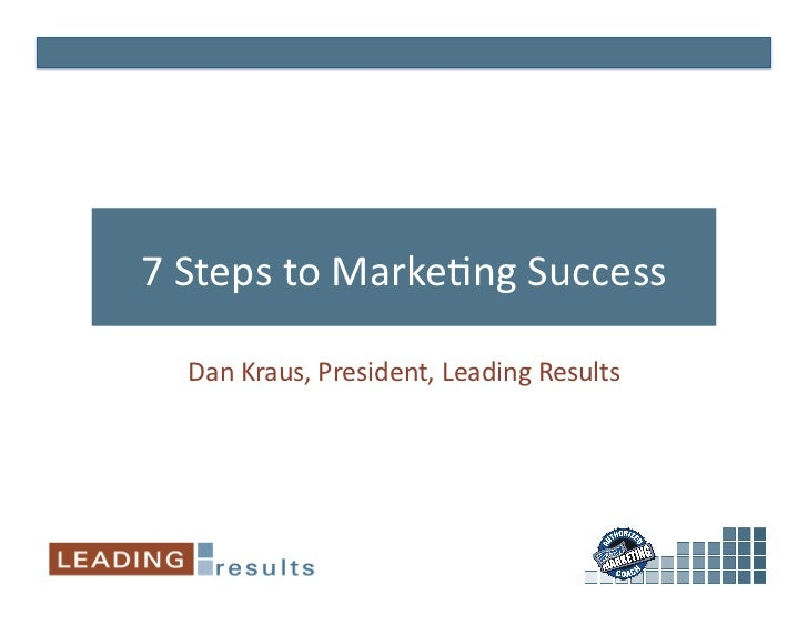 7 steps to marketing success   sugar con 2010