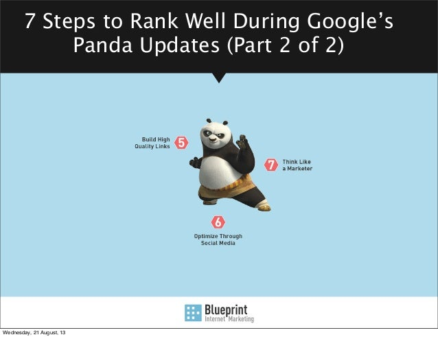 7 Steps to Rank Well During Google's Panda Updates (Part 2 of 2) From an SEO Company