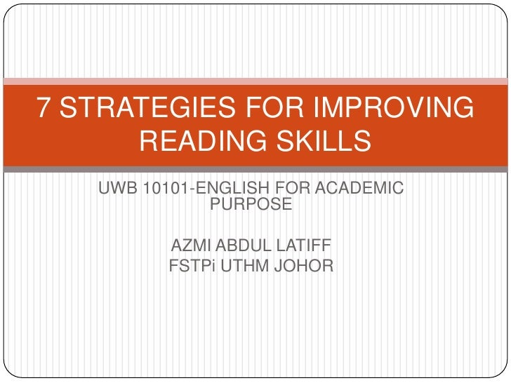Improving your reading skills