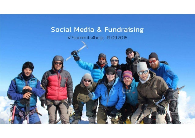 Social Media & Fundraising #7summits4help, 19.09.2016