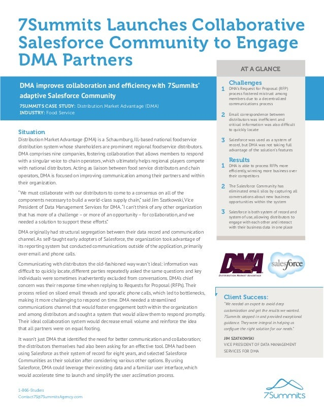7Summits Launches Collaborative Salesforce Community to Engage DMA Partners 7SUMMITS CASE STUDY: Distribution Market Advan...