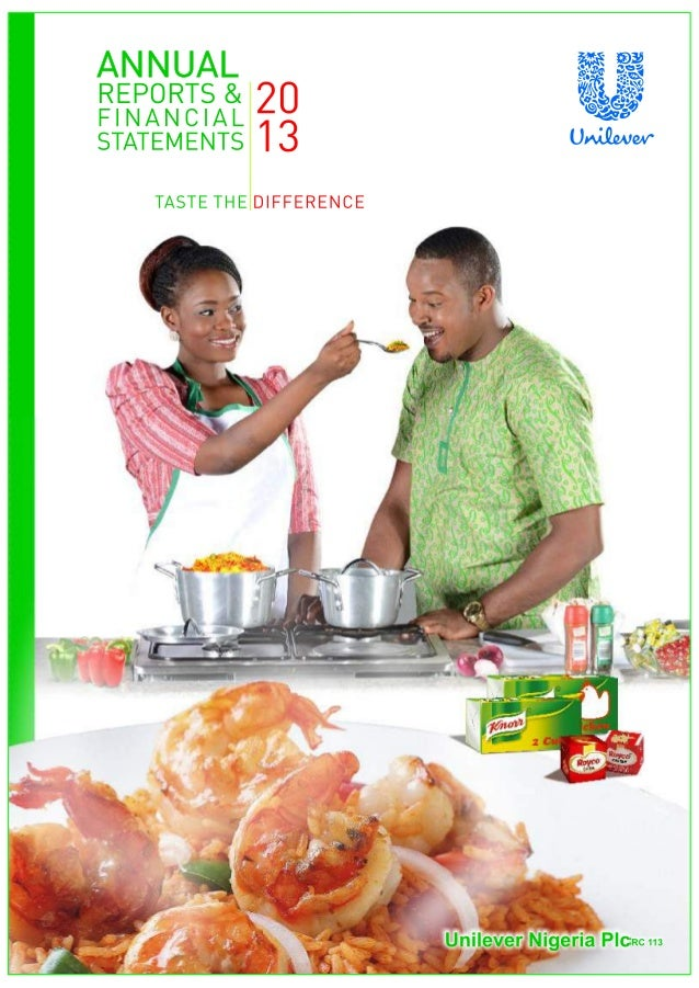 Unilever nigeria annual report 2013