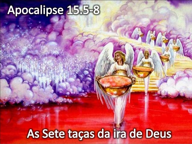 As sete Taças do Apocalipse 1ª Taça: Apocalipse 16.1,2 Úlceras em quem tiver a marca da Besta 2ª Taça: Apocalipse 16.3 O m...