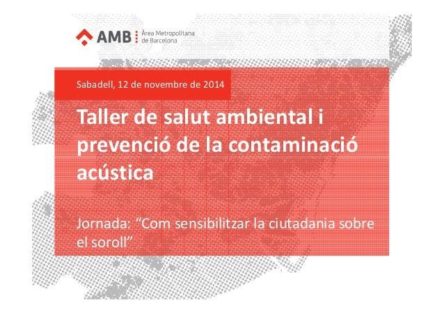 Taller de salut ambiental (Àrea Metropolitana de Barcelona)