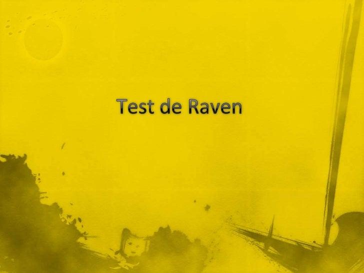 7 test de raven