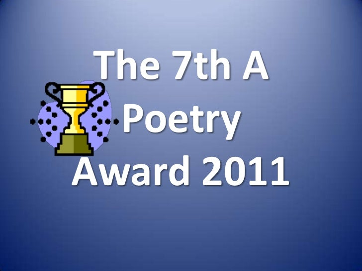 The 7th A Poetry Award 2011<br />