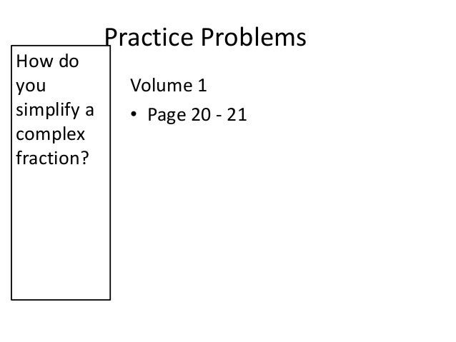 How To Solve Volume Problems