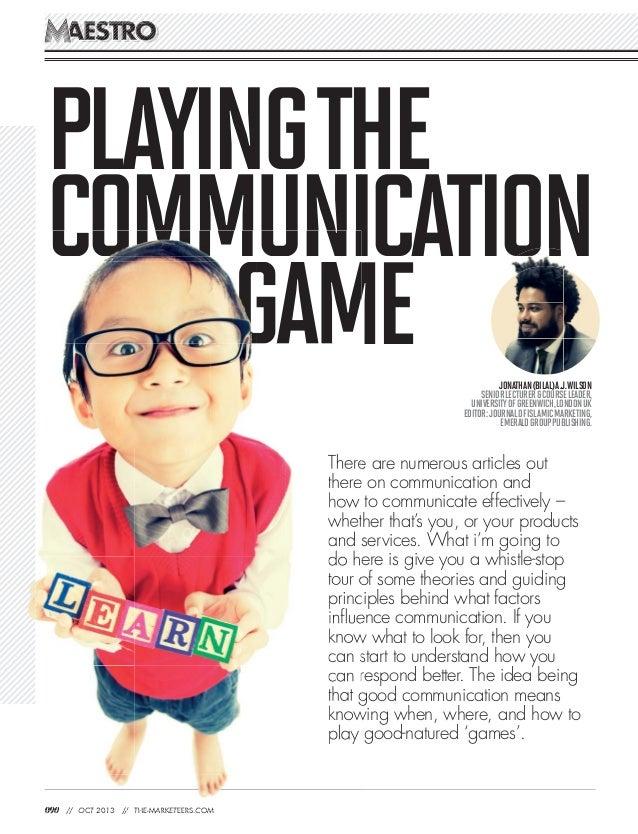PLAYINGTHE COMMUNICATION GAME 090 // OCT 2013 // THE-MARKETEERS.COM AESTROAESTROOOSTROSTROAESAES OOSS RRTSTEEAA OORORORORO...