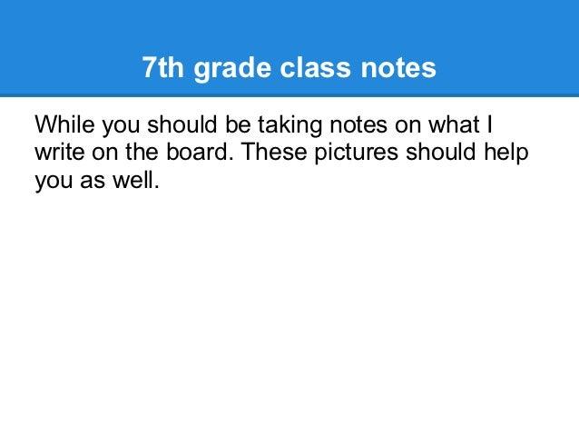 7th grade class notes