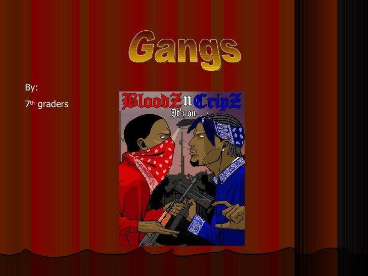 Gangs By:  7 th  graders