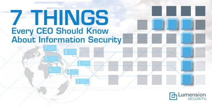 7 THINGS Every CEO Should Know About Information Security         Policy and         Process Reign         Supreme        ...