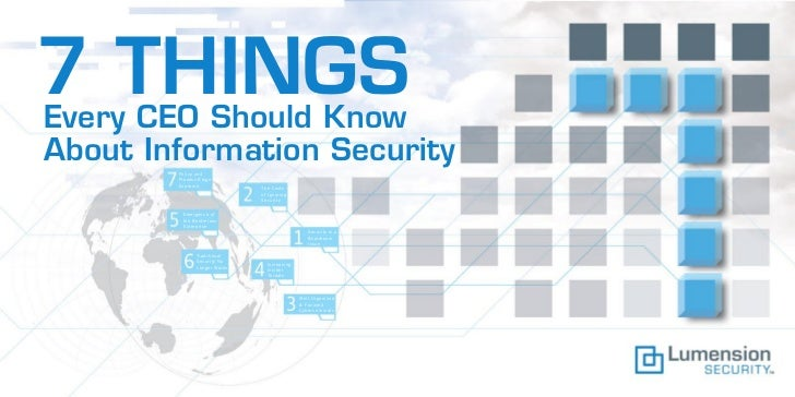 7 things every ceo should know about information security