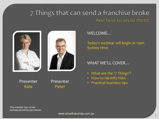 7 things that can send a franchise broke - Webinar